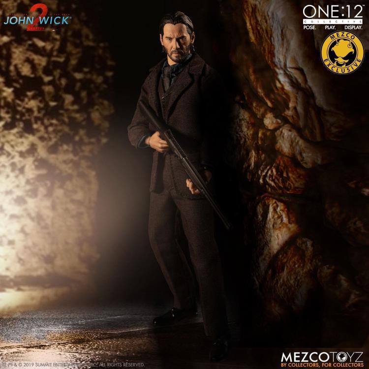 Mezco One:12 John Wick Deluxe 2 armes de poing avec Extended tonneau