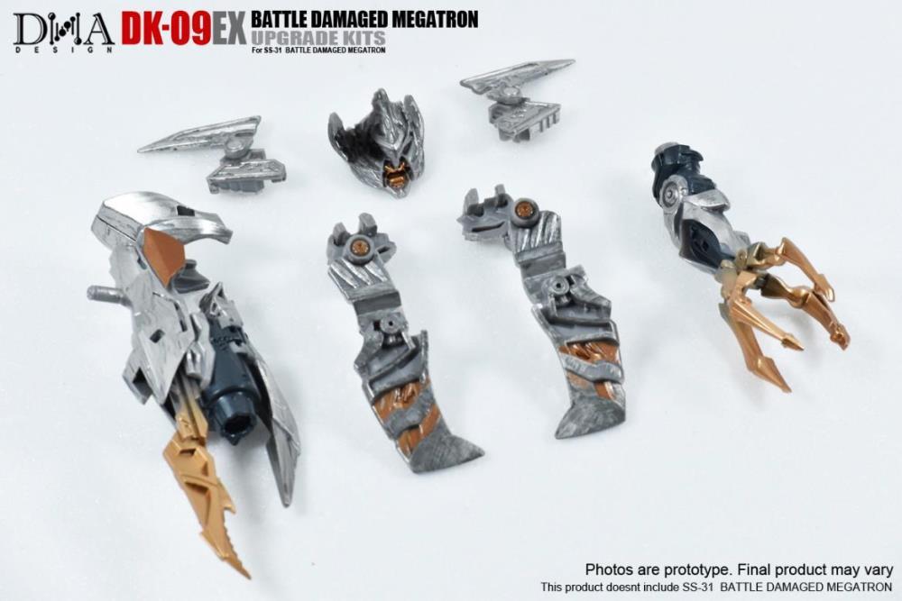 DNA Design DK-09EX Studio Series Battle Damaged Megatron Upgrade Kit.