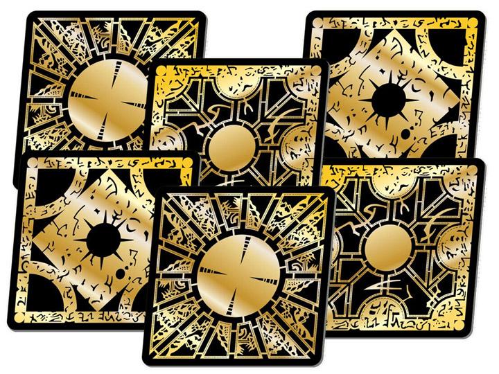 hellraiser pinhead sandblasted etched slate coasters