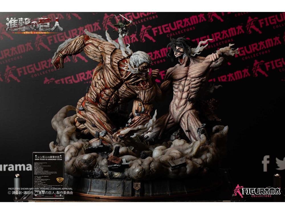 Attack On Titan Elite Exclusive Eren Vs Armored Titan 1 3 Scale Statue