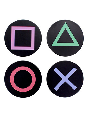 PlayStation Controller Buttons Set of 4 Coasters