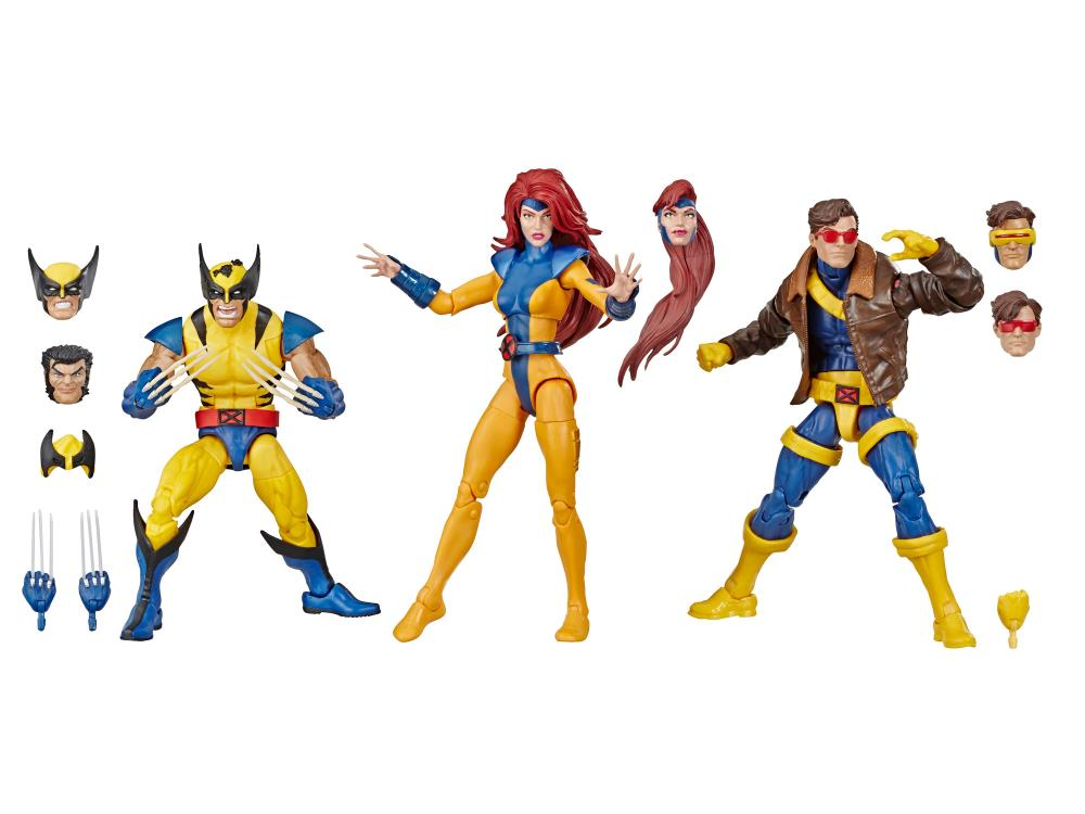 Marvel Legends X Men 3 Pack Wolverine Jean Grey and Cyclops Marvel Classics 80th