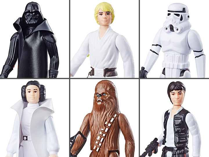 Star Wars Retro Collection 2019 Assortment Wave 1 Set of 6