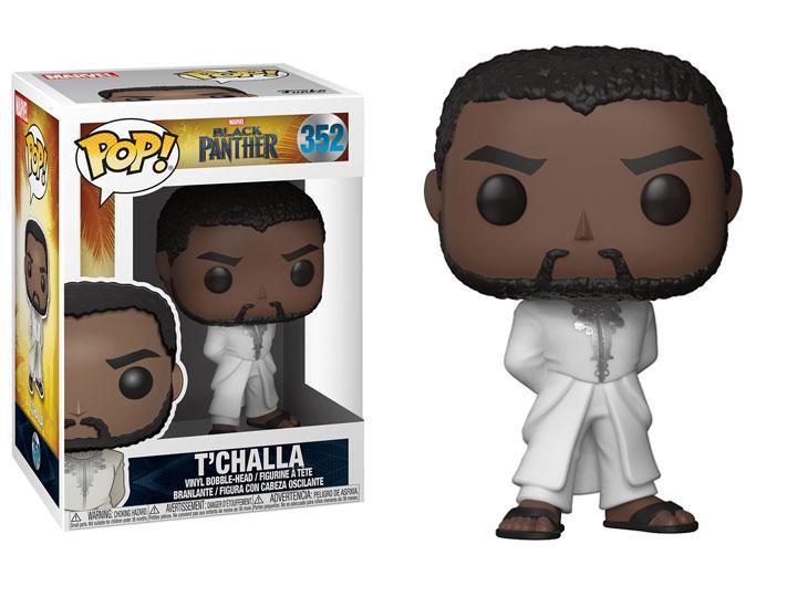 Funko Pop T/'Challa in White Robe W//Pop Shield Marvel #352 Black Panther