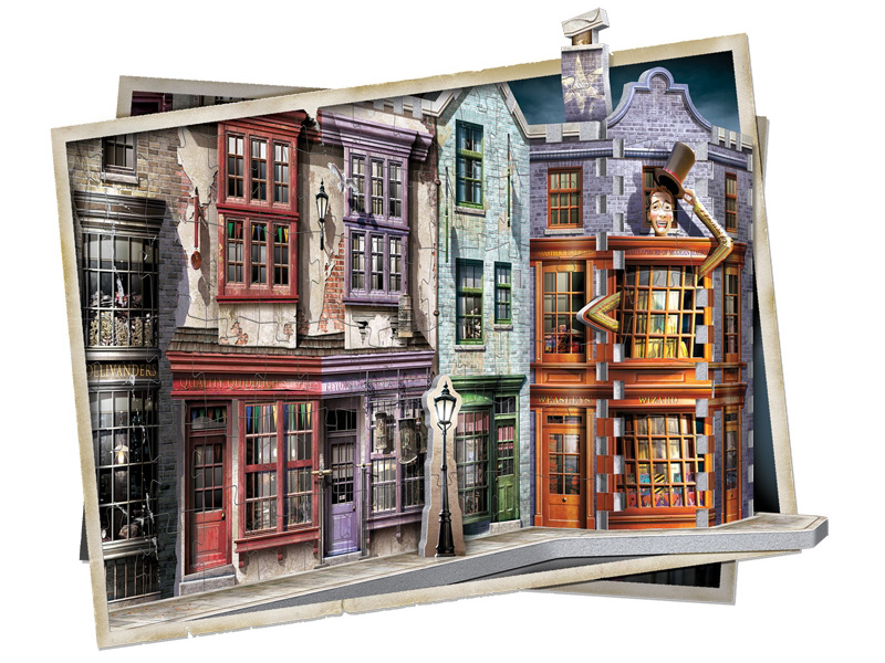 Harry Potter Collectibles Gift 3D Puzzle Diagon Alley Replica 450 Pieces
