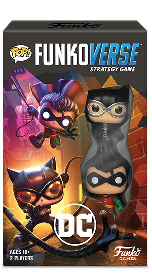 Funko Pop Funkoverse DC Comics Robin Catwoman Strategy Game Batman 80 Years