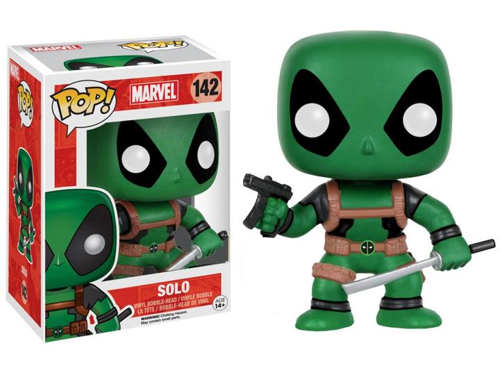 9 cm Exclusive Funko Marvel Comics Deadpool Green Solo POP