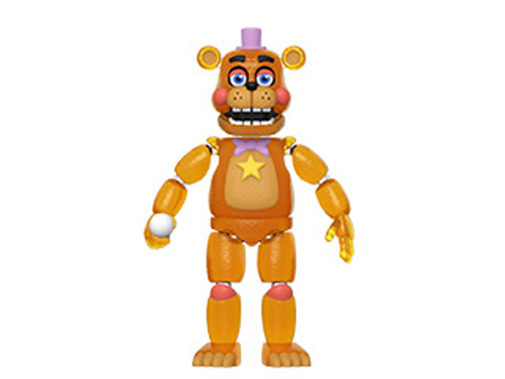 FIVE NIGHTS AT FREDDY/'S PIZZA SIMULATOR ROCKSTAR FREDDY ACTION FIG TRANSLUCENT