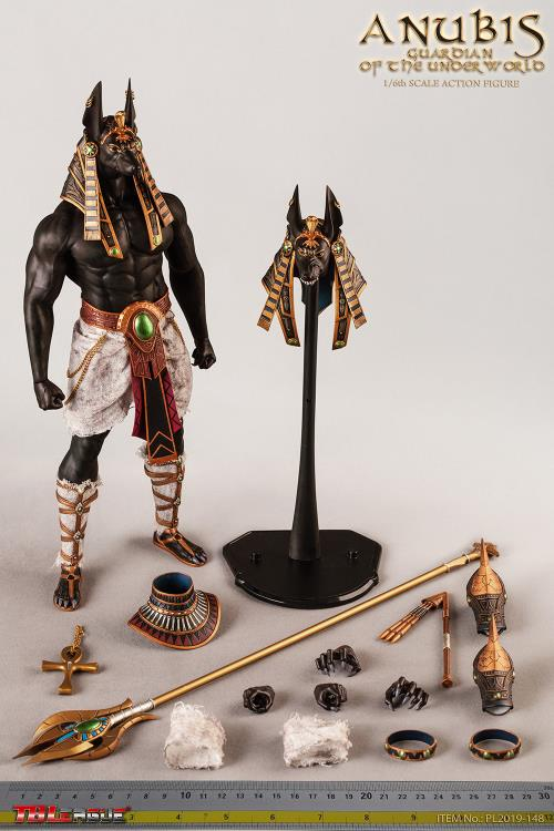 Ancient Egyptian God of Underworld Anubis Guardian of Scales Figurine 8.5 Inches Bronze