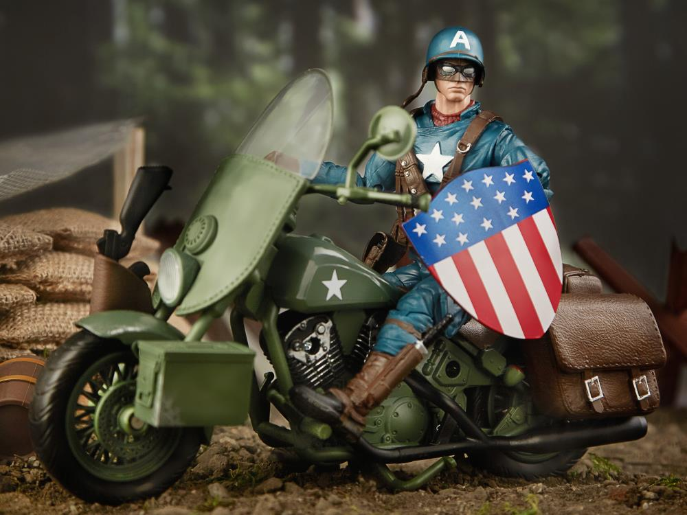 Marvel Legends80 YearsCaptain America With MotorcycleAction Figure