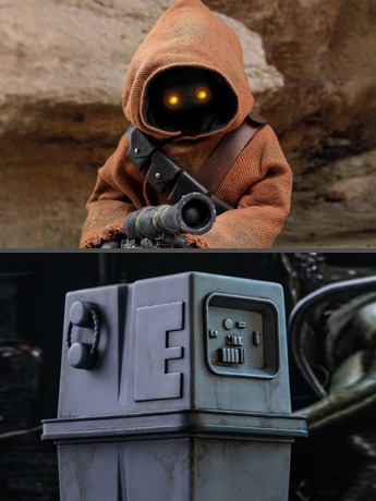 Star Wars: A New Hope MMS554 Jawa & EG-6 Power Droid 1/6 Scale Collectible Figure Two-Pack