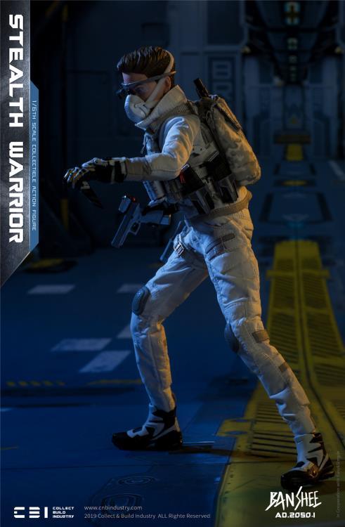 Y20-36 1//6 scale ES AD.2050.I light version banshee Futuristic Assault Mask