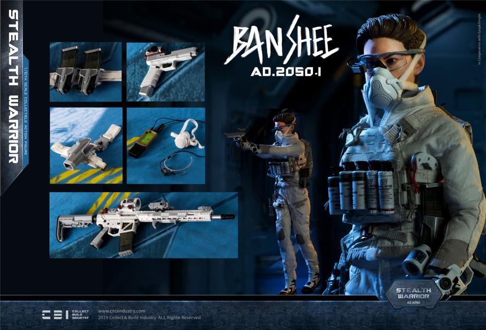 1//6 Scale Toy Banshee Stealth Warrior Version Light-Plaque Carrier /& Sac à dos