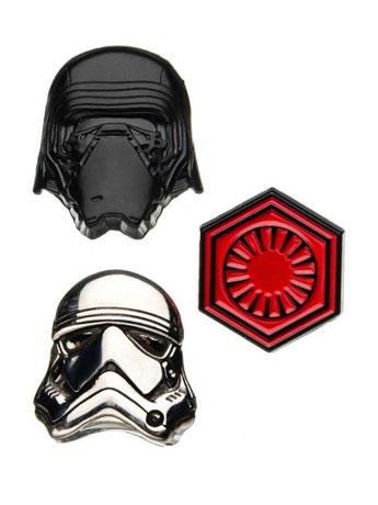 Star Wars: The Last Jedi 3-D First Order Pin Set