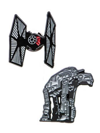 Star Wars: The Last Jedi AT-AT and TIE Fighter Pin Set