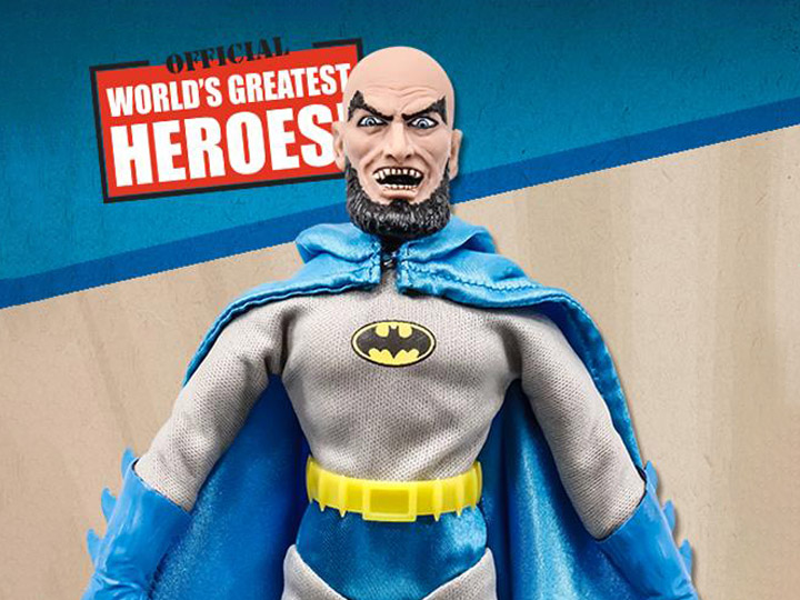 "DC Comics JLA Retro Mego-style 8/"" Figure Batman World/'s Greatest Heroes"