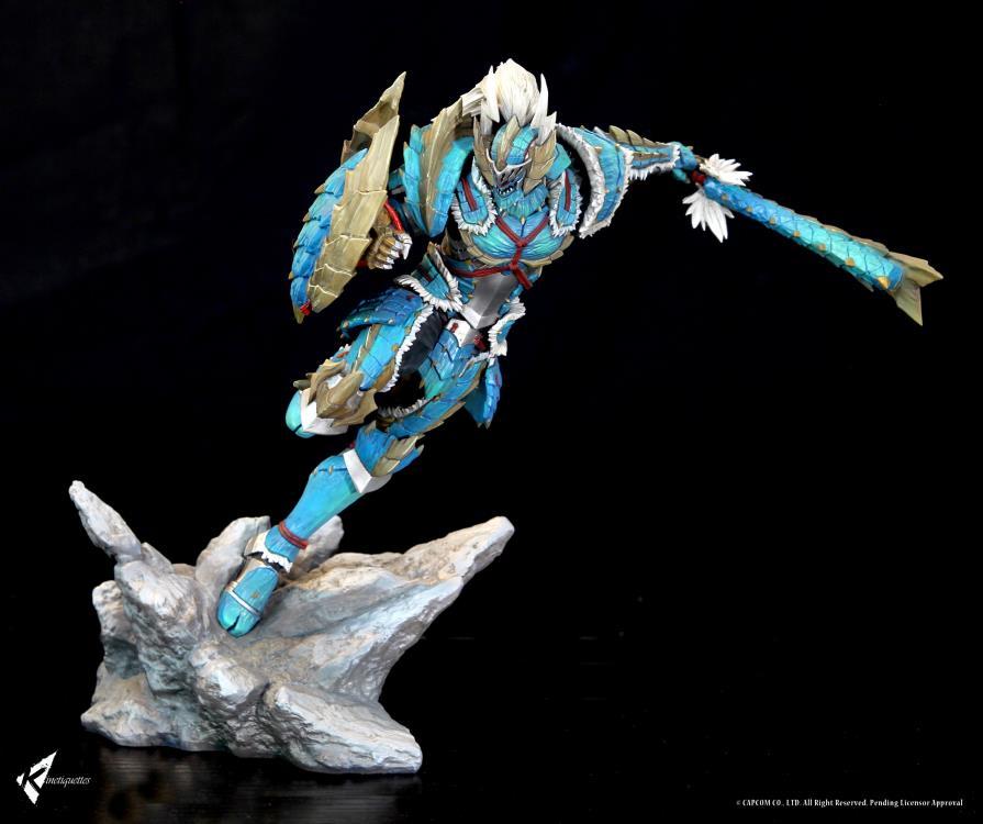 Monster Hunter Male Hunter Zinogre Armor 1 10 Scale Statue