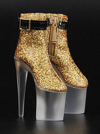 Platform Shoes (Gold) 1/6 Scale Accessory Set