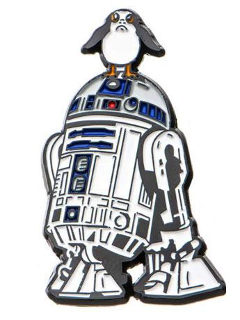 Star Wars: The Last Jedi R2-D2 and Porg Lapel Pin