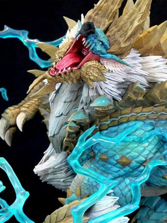 Monster Hunter Zinogre The Thunder Wolf Wyvern 1/10 Scale Statue