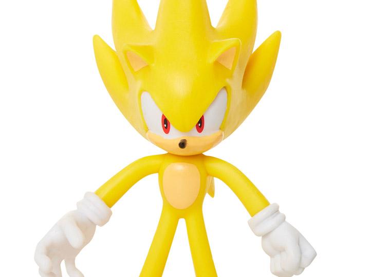Sonic The Hedgehog 4 Basic Super Sonic Bendy Figure
