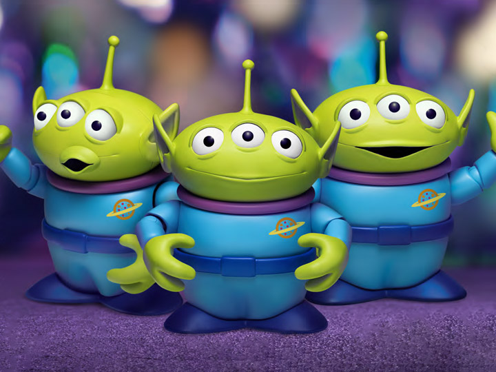 Toy Story Dynamic 8ction Heroes DAH-022DX Alien PX Previews Exclusive  Three-Pack