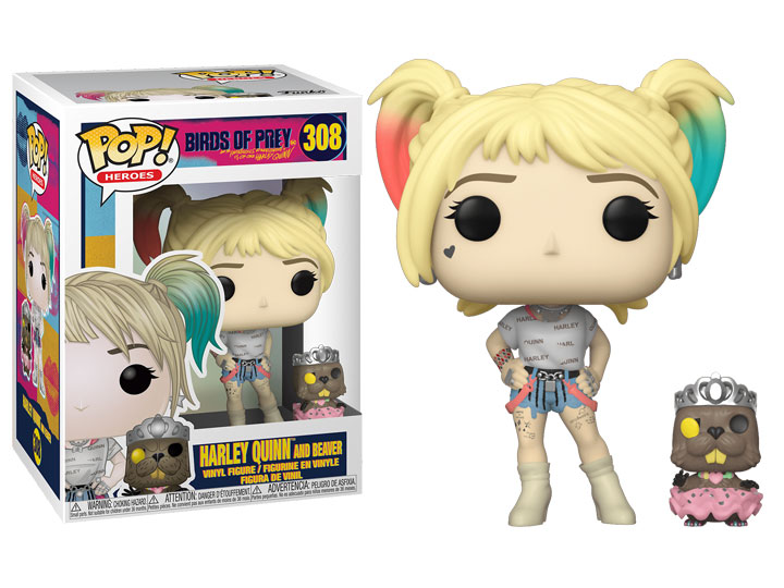Pop Heroes Birds Of Prey Harley Quinn With Bernie The Beaver