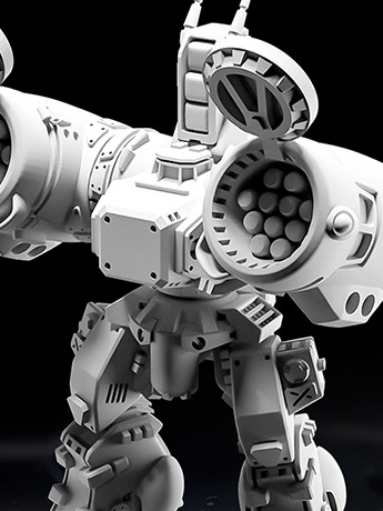 Robotech MiniTech MT08 Destroid Phalanx 1/285 Scale Model Kit