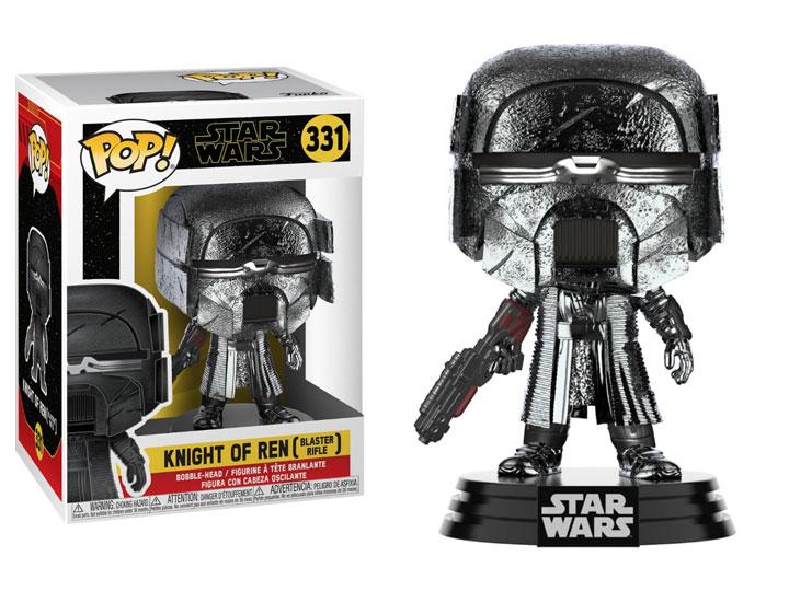 Pop Star Wars The Rise Of Skywalker Knight Of Ren With Blaster Hematite Chrome
