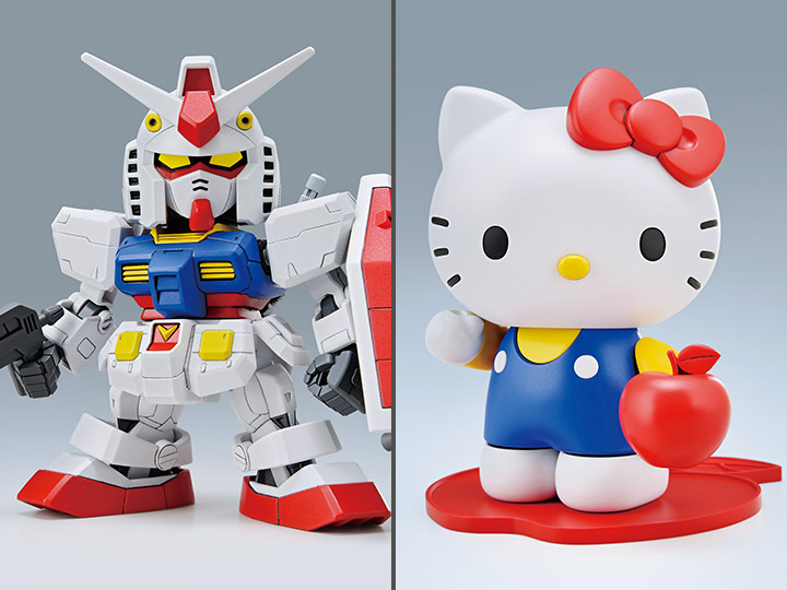 Gundam vs Hello Kitty SD EX-Standard 016 RX-78-2 Gundam & Hello Kitty Model Kit Set