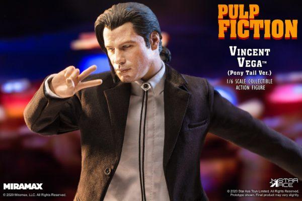 STAR ACE Vincent Vega Pulp Fiction White Shirt loose 1//6th scale