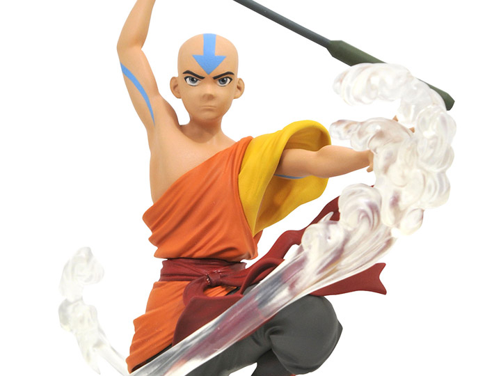 Avatar The Last Airbender Aang Gallery PVC statue Diamond Select Pre Order Octob