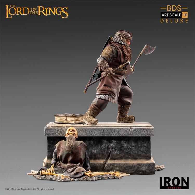 1//10 Iron Studios WBLOR29320-10 Lord of the Rings Gimli  Solider Figure Toy