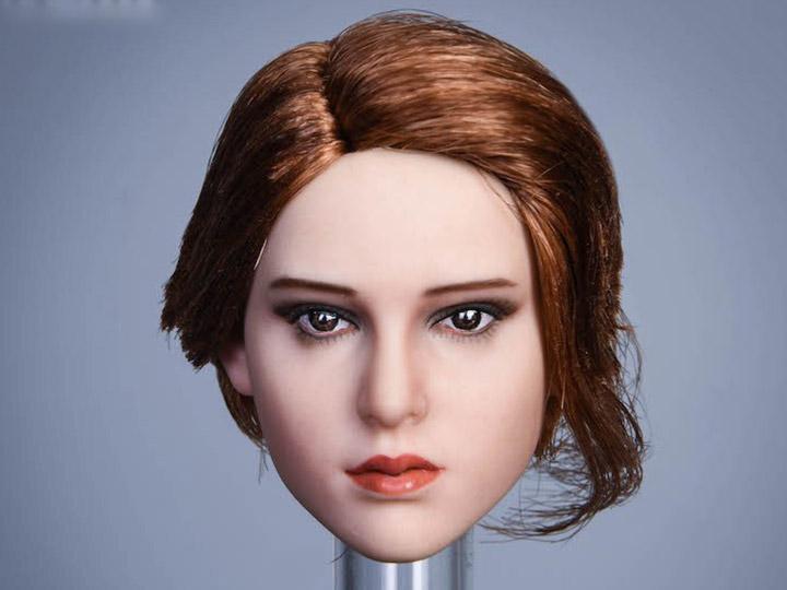 "SPARK TOYS 1//6 Scale SP001 Beauty Female Head Sculpt Carved PVC Model Fit 12/""Bod"