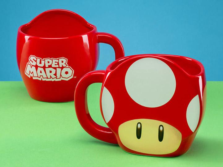 Super Mario Bros Mushroom Shaped Mug