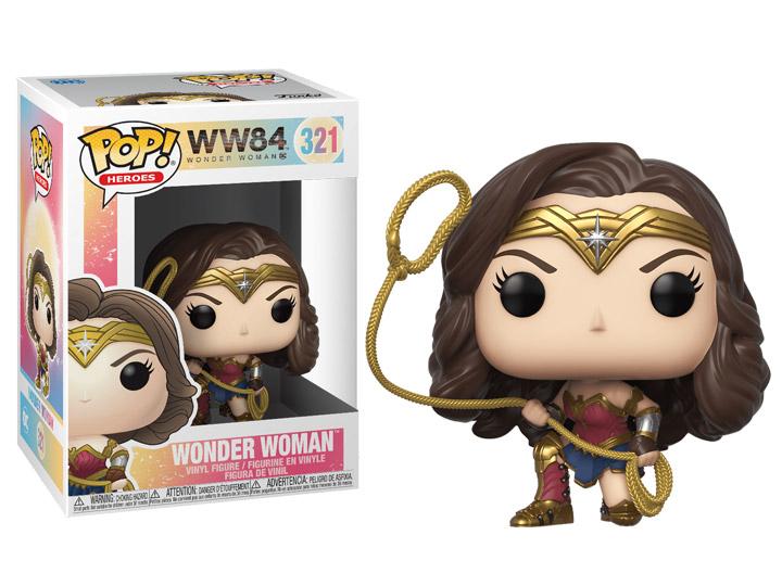 Vinyl 1984 Wonder Woman Wonder Woman Power Pose Gold Chrome US Exclusive Pop