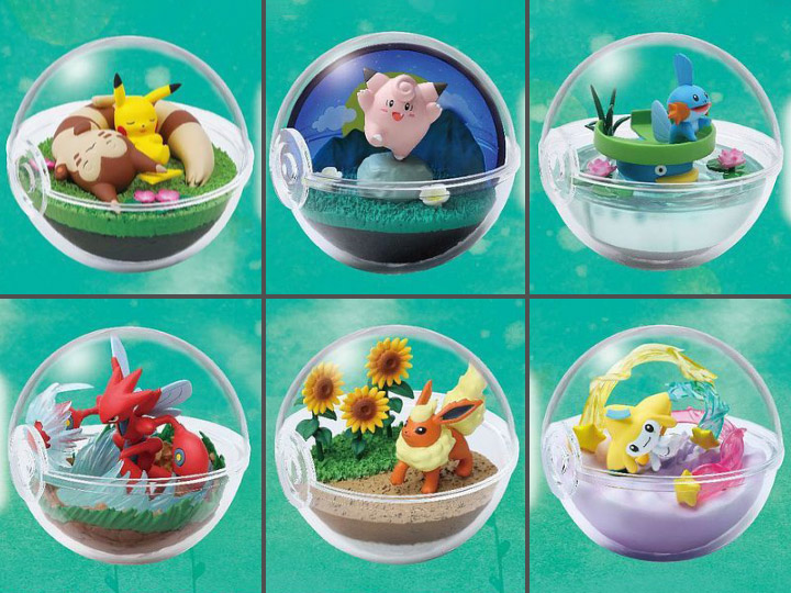USA Fast Ship! Pokemon Terrarium Collection 8 FLAREON by RE-MENT