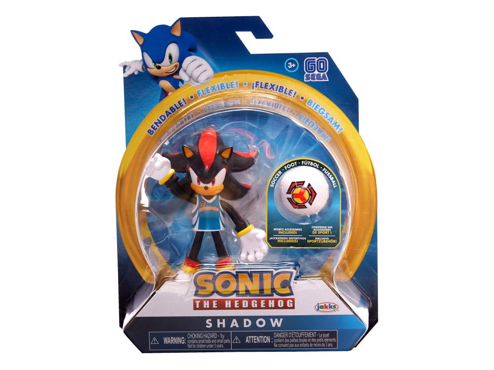 Sonic The Hedgehog 4-Inch Wave 3 Bendable Figure Knuckles with Basketball