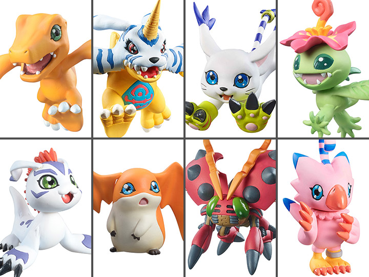 MegaHouse Digimon Adventure Digicolle Mix Figure Full Set with Gift