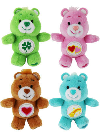 World's Smallest Care Bears Series 2 Set of 4 Plush