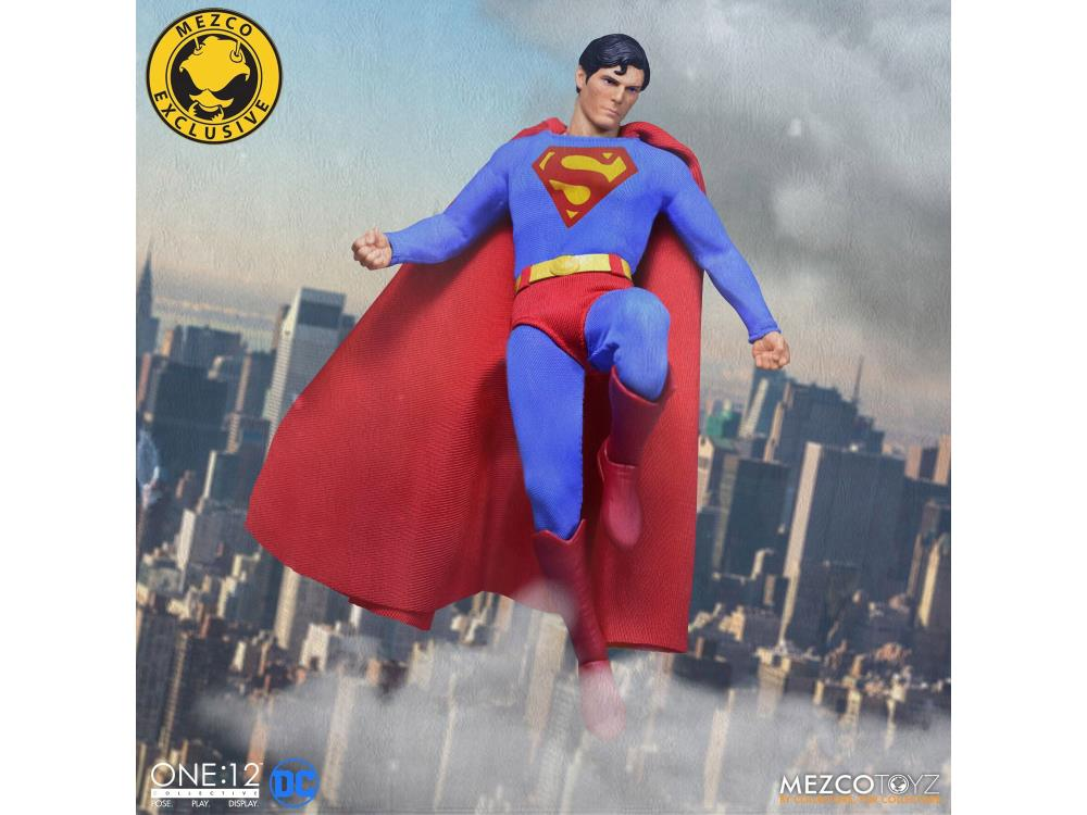 SQ-SUPH-SS No Figure Unpaid Superman Head for Mezco One:12 Superman