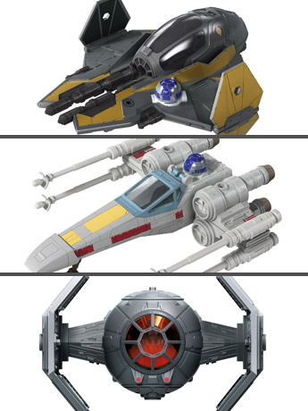 Star Wars Mission Fleet Stellar Class Set of 3 Vehicles with Figures