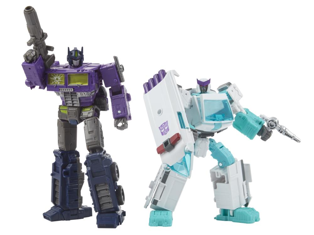 Transformers Generations Selects Shattered Glass Optimus Prime & Ratchet Two-Pack Gallery Image 2