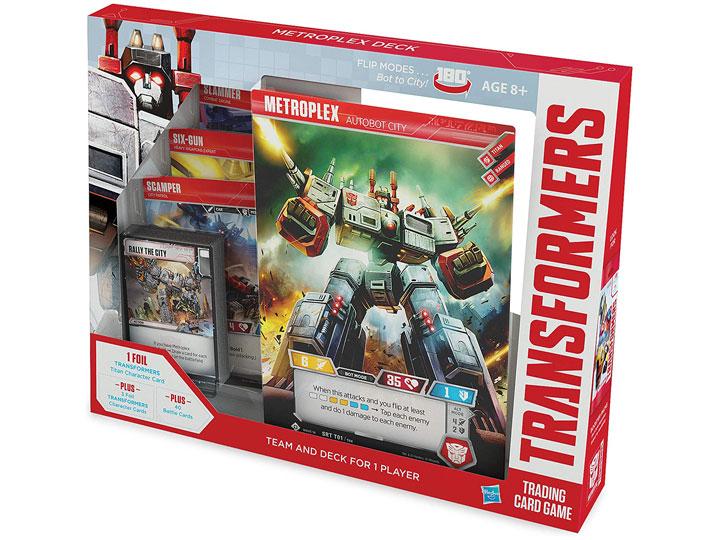 transformers trading card game metroplex deck