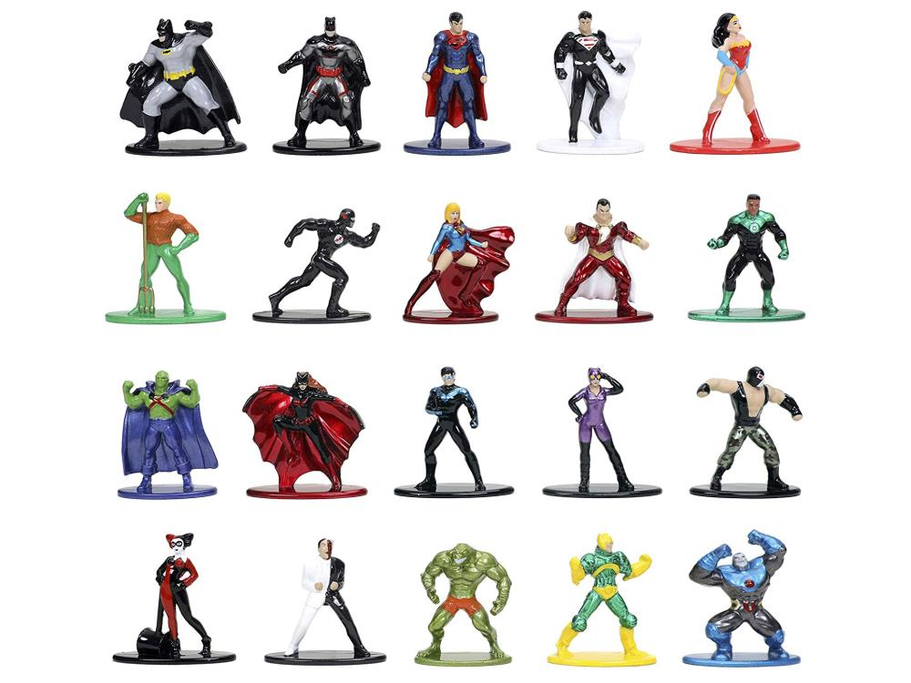 "DC Nano Metalfigs Lot of 3 Figures Jada Toys DC Comics Diecast 2/"" Action Figure"
