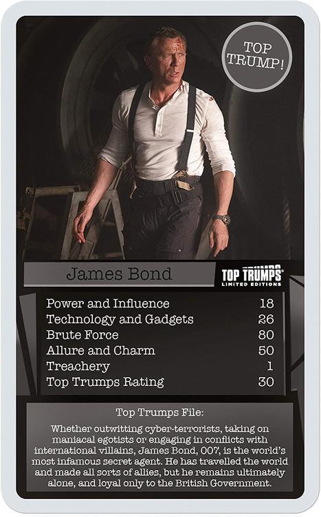 Top Trumps 007 Quartettspiel The Best Of James Bond Quartett Kartenspiel Spiel