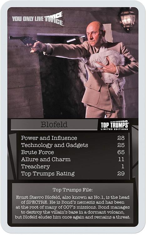 Top Trumps Limited Editions 007 Best of Bond Free 1st class p/&p
