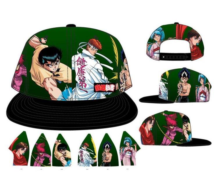 Plon7ucErt Yu Yu Hakusho Men Women Anime Snapback Hats Adjustable Flat Bill Baseball Cap All Over Print Sublimated Hat