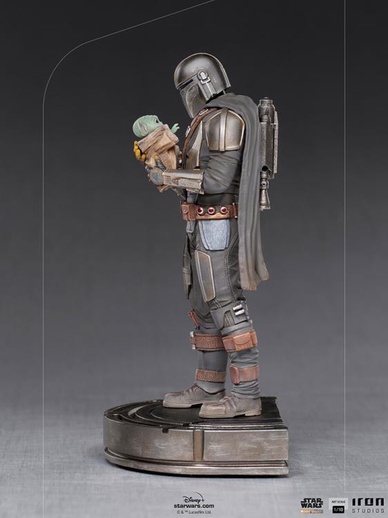 IRON STUDIOS : The Mandalorian and Grogu 1/10 Deluxe Art Scale Limited Edition Statue 2c0b9f42-8833-47cc-a150-e008f9025d8e
