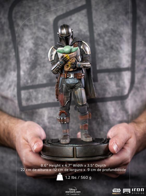 IRON STUDIOS : The Mandalorian and Grogu 1/10 Deluxe Art Scale Limited Edition Statue 5df56c9b-2bda-4eeb-8c53-1d4e1797d289